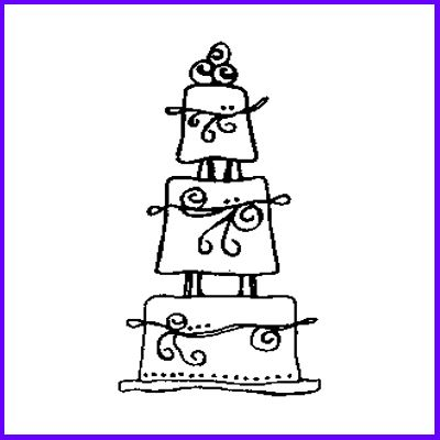 You can order Wedding Cake Wood Mounted Rubber Stamp