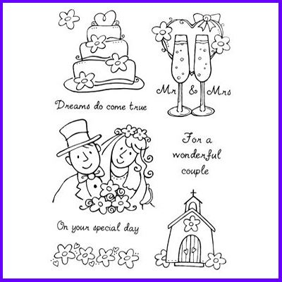You can order Getting Married Clear Cling Stamp Set