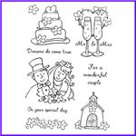 Order Bride and Groom, Cake, Church, Champagne Glasses, Flowers & Scripts