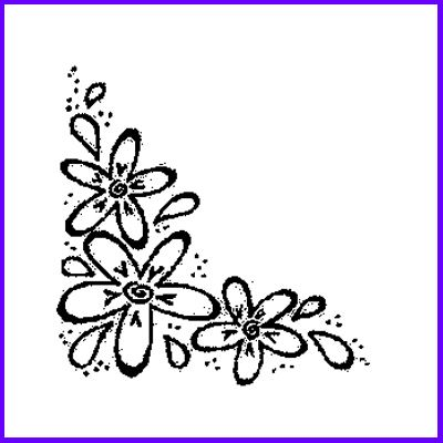 You can order Three Flower Corner Wood Mounted Rubber Stamp