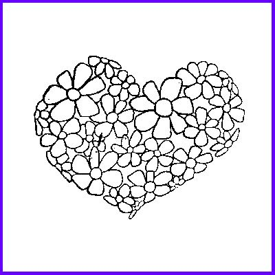 You can order Multi-floral Heart Wood Mounted Rubber Stamp
