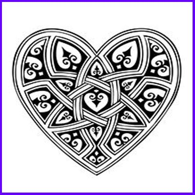 You can order Gothic Celtic Heart Foam Mounted Cling Rubber Stamp