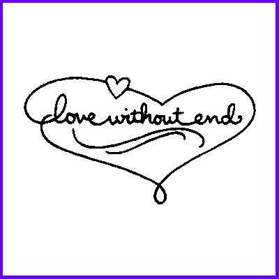 You can order Love Without End Wood Mounted Rubber Stamp