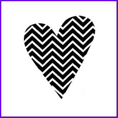 You can order Zig-Zag Heart Wood Mounted Rubber Stamp