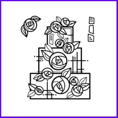 You can order Mackintosh Glasgow Wedding Cake Clear Cling Stamp