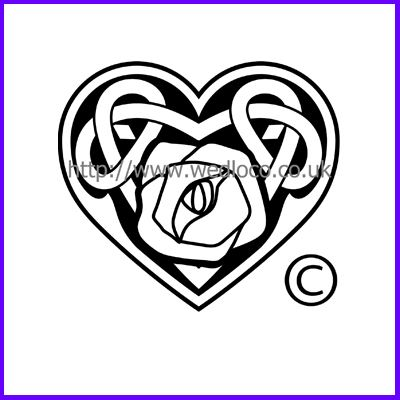 You can order Celtic Rose Heart Medium Clear Cling Stamp