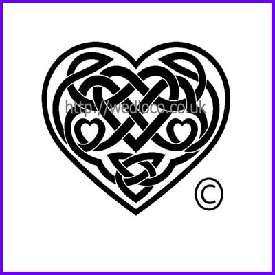You can order Celtic Triple Solid Heart Medium Clear Cling Stamp