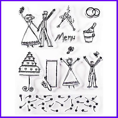 You can order Fun Wedding Clear Cling Stamp Set was £11.00