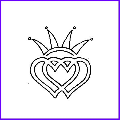 You can order Celtic Double Clear Heart Wood Mounted Rubber Stamp was £5.50