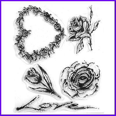 You can order Wedding Flowers Clear Cling Stamp Set was £11.00
