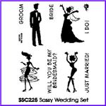 Order Groom, Bride, Bridesmaid, Dancing Girl, Mini Bouquet & Scripts