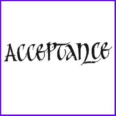 You can order Acceptance Classic Script Wood Mounted Rubber Stamp was £5.50