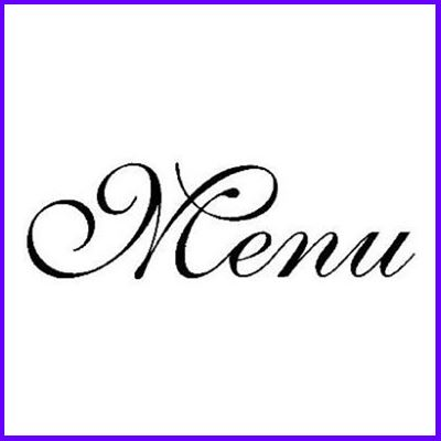 You can order Menu Curl Script Wood Mounted Rubber Stamp was £4.50