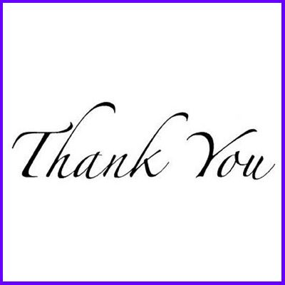 You can order Thank You Flourish Script Wood Mounted Rubber Stamp was £5.50
