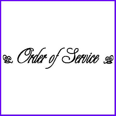 You can order Order of Service LB Script Wood Mounted Rubber Stamp was £6.50