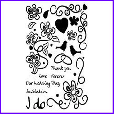 You can order I Do Clear Cling Stamp Set was £11.00
