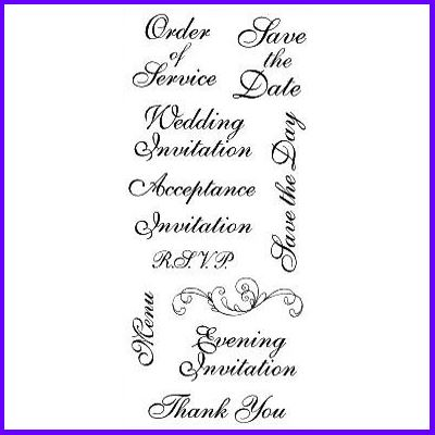You can order Curl Script Wedding Set of Clear Cling Stamps