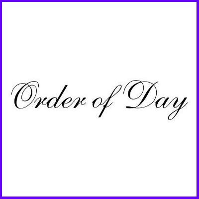 You can order Order of Day Script Wood Mounted Rubber Stamp