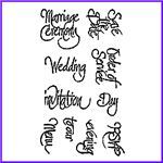 Order Special Day Set of Clear Cling Script Stamps