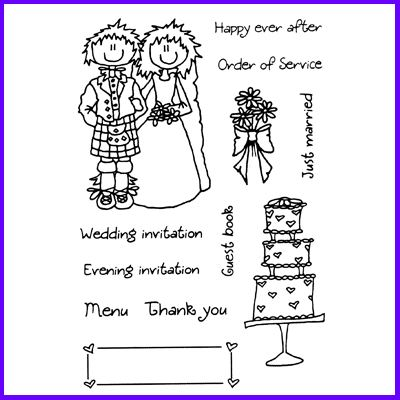 You can order Scottish Tying The Knot Clear Cling Stamp Set