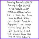 Order Wedding Words Set of Clear Cling Stamps