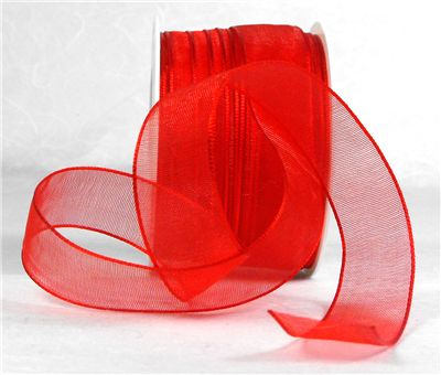 You can order Red 15mm Organza Ribbon