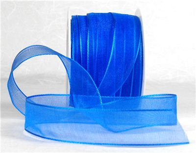 You can order Bright Blue 15mm Organza Ribbon