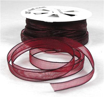You can order Burgundy 7mm Organza Ribbon