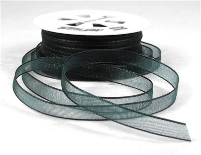 You can order Dark Green 7mm Organza Ribbon