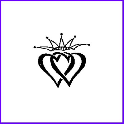 You can order Celtic Double Heart Medium Wood Mounted Rubber Stamp