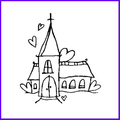 You can order Church Wood Mounted Rubber Stamp
