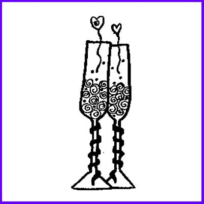 You can order Champagne Flutes Wood Mounted Rubber Stamp