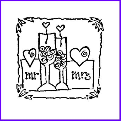 You can order Mr & Mrs Wood Mounted Rubber Stamp