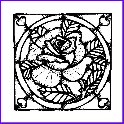 You can order Stained Glass Rose Wood Mounted Rubber Stamp