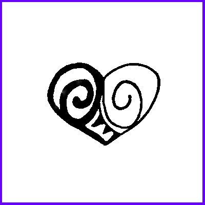 You can order Double Spiral Heart Wood Mounted Rubber Stamp