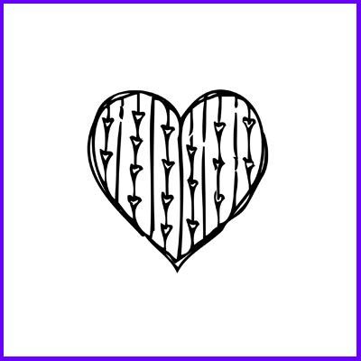 You can order Hearts In Heart Rubber Cling Stamp