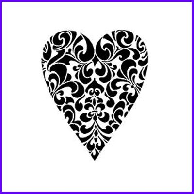 You can order Paisley Heart Foam Mounted Cling Stamp