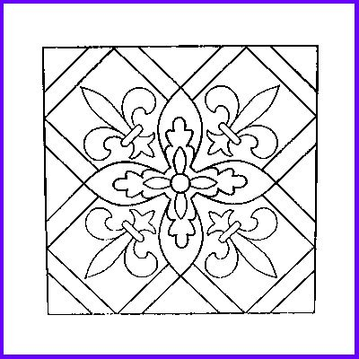 You can order Fleur de Lys Tile Wood Mounted Rubber Stamp
