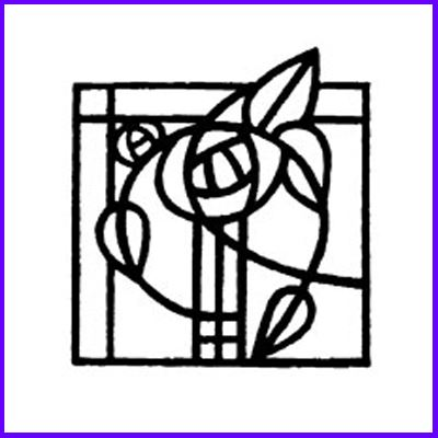 You can order Mackintosh Glasgow Motif 3 Wood Mounted Rubber Stamp