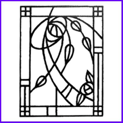 You can order Mackintosh Glasgow Detail Wood Mounted Rubber Stamp