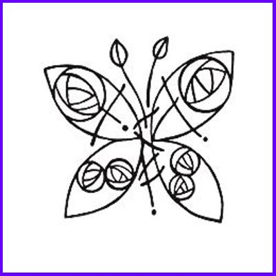 You can order Mackintosh Glasgow Butterfly Wood Mounted Rubber Stamp