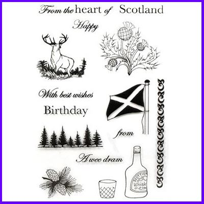 You can order Scottish Wishes Clear Cling Stamp Set