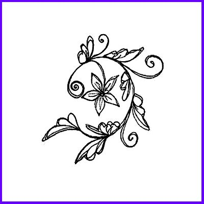 You can order Leafy Floral Vine Wood Mounted Rubber Stamp