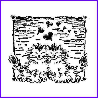 You can order Cats In Love Wood Mounted Rubber Stamp was £12.50