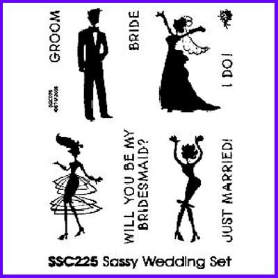 You can order Sassy Wedding Mini Clear Cling Stamp Set was £8.50
