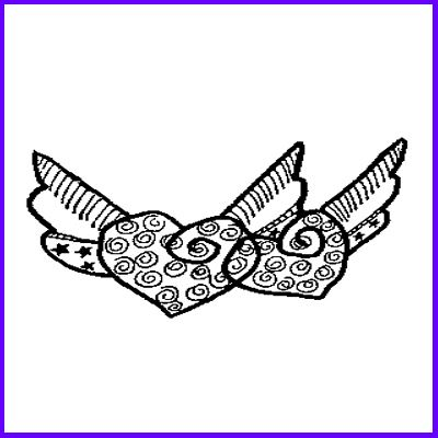 You can order Double Winged Hearts Wood Mounted Rubber Stamp was £12.00