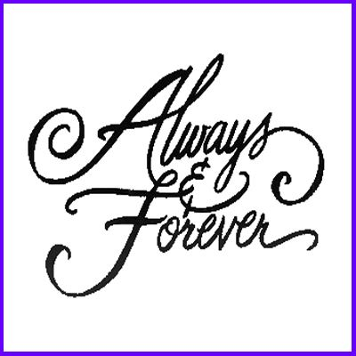 You can order Always And  Forever Wood Mounted Rubber Stamp was £8.00