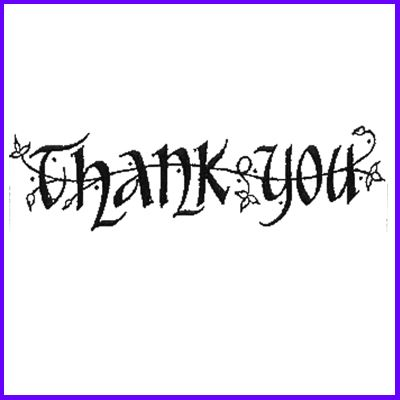 You can order Thank You Celtic Script Wood Mounted Rubber Stamp was £5.50
