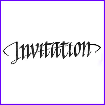 You can order Invitation Elegant Script Wood Mounted Rubber Stamp was £6.50