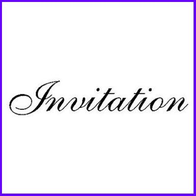 You can order Invitation Curl Script Wood Mounted Rubber Stamp was £5.50
